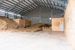 Industrial site with steel storage units Royalty Free Stock Images