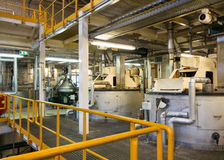 Industrial site with steel storage units Stock Photo