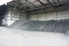 Industrial site with steel storage units Stock Image