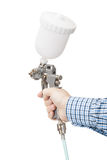 Industrial size spray gun used for industrial painting and coating. Royalty Free Stock Image