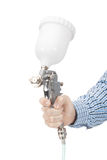 Industrial size spray gun used for industrial painting and coating. Stock Photography