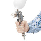 Industrial size spray gun used for industrial painting and coating - 1 to 1 ratio Royalty Free Stock Images