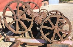 Industrial Sized Gears Stock Photos