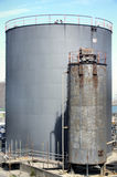 Industrial Sized Storage Tanks Royalty Free Stock Photography