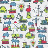 Industrial sketch seamless pattern Stock Image