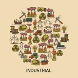 Industrial sketch set Royalty Free Stock Photography