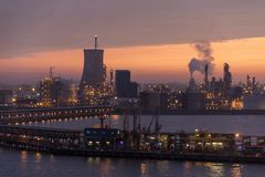 Industrial Skyline at Dawn - England Royalty Free Stock Image