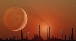 Industrial Skyline - Elements of this image furnished by NASA Stock Photos