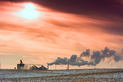 Industrial Smog Stock Images