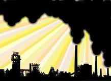 Industrial smoke Stock Image