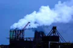 Industrial smoke Stock Images