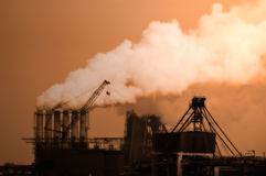 Industrial smoke royalty free stock photo