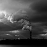 Industrial smoke from chimney Royalty Free Stock Photo