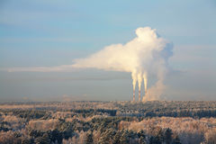Industrial smoke from chimney Stock Images