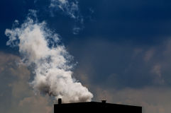Industrial smoke. Coming from a factory Stock Photography