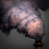 Industrial smoke, pollutes the atmosphere. Royalty Free Stock Photography