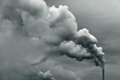 Industrial smoke pollution Stock Photography
