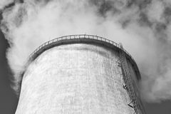 Industrial smoke stack of coal power plant Royalty Free Stock Photography
