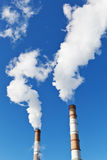 Industrial smoke stack of coal power plant Stock Photography
