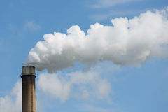 Industrial smoke stack of a power plant. Royalty Free Stock Photos