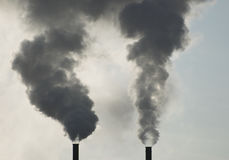 Industrial Smoke Stacks Stock Image