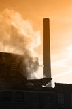 Industrial Smokestack. Smokestack closeup of industrial factory Stock Photo