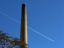 Industrial smokestack Royalty Free Stock Images