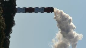 Industrial smokestack with fume Exhaust