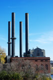 Industrial smokestacks Royalty Free Stock Photography