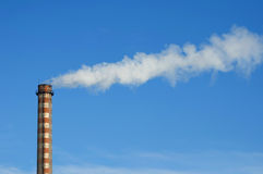 Industrial smoking chimney Royalty Free Stock Photography