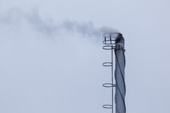 Industrial smoking chimney Stock Photo
