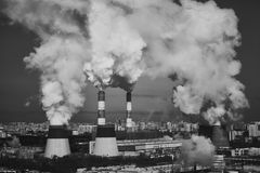 Industrial Smoking chimneys Royalty Free Stock Images