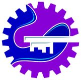 Industrial solutions logo Royalty Free Stock Images