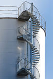 Industrial spiral stair circular Stock Images