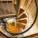 Industrial - spiral staircase Royalty Free Stock Image