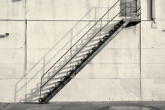Industrial staircase Stock Image
