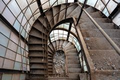 Industrial staircase going up Stock Image