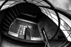 Industrial staircase going up Stock Photography