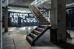 Industrial stairs of a building Stock Photos