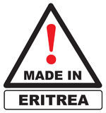 Industrial stamp made in Eritrea Stock Image