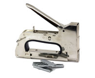 Industrial stapler. Construction Stapler - Isolated on a white background royalty free stock photography