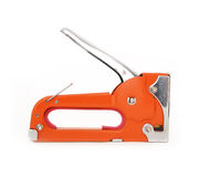 Industrial stapler over white Royalty Free Stock Images