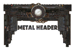 Metal frame. Industrial or steampunk style metal frame stock photography