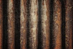 Industrial steel background. Steel background - retro style grungy corrugated metal tin texture stock image