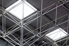 Industrial steel ceiling construction Royalty Free Stock Photography
