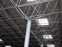 Industrial steel ceiling construction Stock Photo