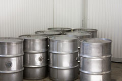 Industrial Steel Drums Stock Image