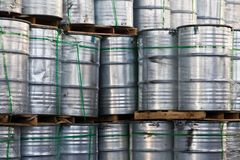 Industrial Steel Drums Royalty Free Stock Photography