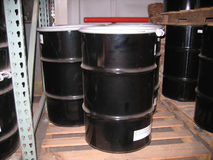 Industrial steel drums Royalty Free Stock Photo