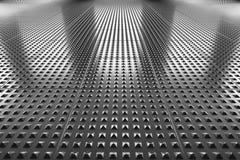 Industrial steel floor perspective view Stock Photography